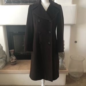 Anne Klein Double Breasted Cashmere Blend Br. Coat
